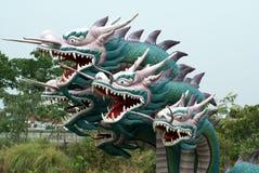 Smok statuy przy Muang Boran Antyczny miasto, Bangkok, Tajlandia, Azja Obraz Royalty Free