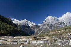 smoka chabeta góry śniegu siklawy yak fotografia stock