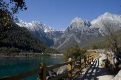 smoka chabeta jeziorny halny ścieżki śnieg Zdjęcie Stock