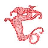 Smoka chińczyka zodiak ilustracji