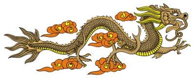 smoka chiński latanie Zdjęcia Royalty Free