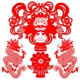 smoka chiński nowy rok ilustracji