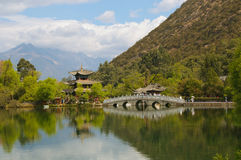 Smoka czarny basen, Lijiang, Chiny Obrazy Royalty Free