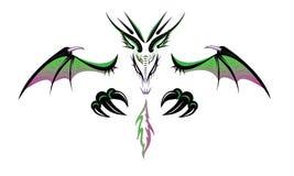 Smoka demonu kwas royalty ilustracja