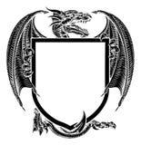 Smoka grzebienia żakiet ręka emblemata Heraldyczna osłona ilustracji