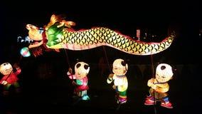 Smoka Handmade Chiński lampion Fotografia Stock