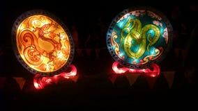 Smoka Handmade Chiński lampion Obrazy Stock
