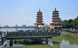 Smoka i tygrysa pagody Zdjęcia Royalty Free