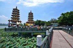 Smoka i tygrysa pagody Zdjęcia Stock
