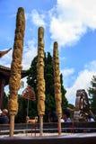 Smoka Joss kije burnt w gigantycznym garnku w frontowym jardzie wietnamczyk świątynia, Chua Truc zwianie, Dalat, Wietnam, Azja Fotografia Stock
