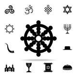 Smoka koła ikona Religii ikon ogólnoludzki ustawiający dla sieci i wiszącej ozdoby ilustracja wektor