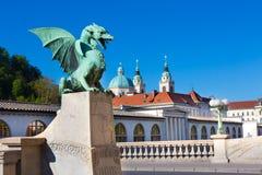 Smoka most, Ljubljana, Slovenia, Europa Zdjęcia Stock