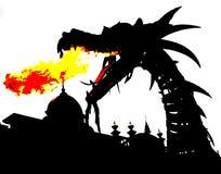 Smoka ogień royalty ilustracja