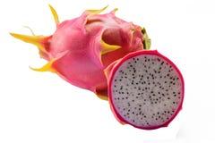 Smoka owocowy plasterek z smok owoc na odosobnionym tle 2 Zdjęcia Stock