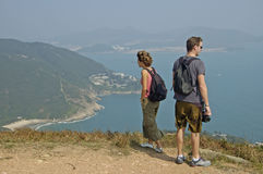 Smoka ` s plecy próba, natura spacer za miastem Hongkong Zdjęcie Stock