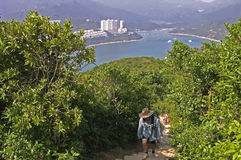 Smoka ` s plecy próba, natura spacer za miastem Hongkong Fotografia Royalty Free