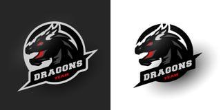 Smoka sporta logo opcje dwa Obrazy Royalty Free