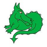 smoka szczęśliwy zielony Fotografia Royalty Free