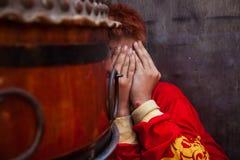 Smoka tana artysta podczas świętowania Wietnamski nowy rok Obraz Stock