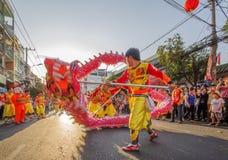 Smoka taniec przy Tet nowego roku Księżycowym festiwalem, Wietnam Obrazy Stock