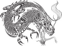 Smoka tatuażu wektor royalty ilustracja