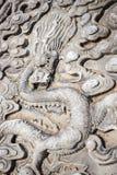 Smoka wizerunek przy wejściem Confucius świątynia Obraz Stock