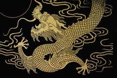 smoka złoto royalty ilustracja