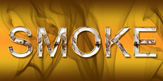 Smoke. 3D generated word Smoke with beautiful background Stock Photo