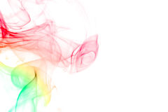 Smoke. Abstract colorful smoke isolated on white background Royalty Free Stock Photos