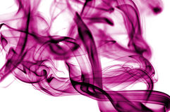 Smoke. Colored smoke isolated  on a white background Stock Photography
