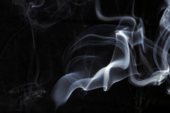 Smoke. Abstract smoke isolated on black background Stock Photos