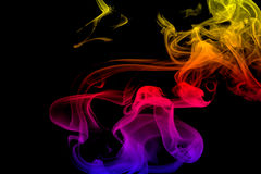 Smoke. Colored smoke on black background Royalty Free Stock Photography
