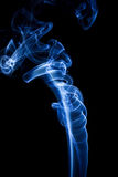 Smoke. Blue smoke on black background Stock Image