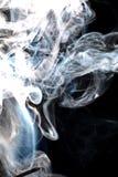 Smoke. Aromatherapy perfume abstact curly smoke, isolated on black background Royalty Free Stock Photos