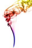 Smoke. Abstract image of colorful smoke on white background Royalty Free Stock Photo