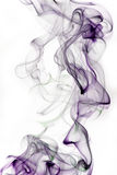 Smoke. Curly smoke against white background Stock Images