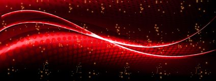 Smoke. Abstract wave red background with lights Royalty Free Illustration