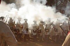 Smoke. Josephine festivals and historic battle in Terezin Stock Photos