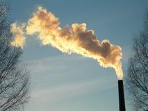 Smoke. Chimney stock photography