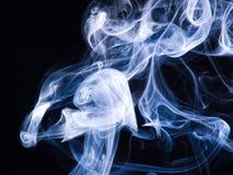 Smoke. Stream of smoke, cold wave on air Stock Photo