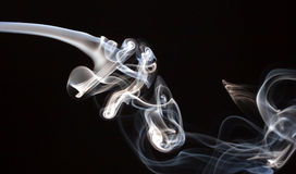 Smoke. Abstractc smoke for background on black Royalty Free Stock Images
