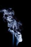 Smoke. Grey smoke on black background Royalty Free Stock Photos