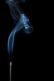 Smoke. Of an aromatic stick Stock Image
