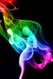 Smoke. Cloud. Enamoured people on a black background Stock Photo