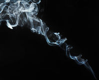 Smoke abstract. And black background Royalty Free Stock Image