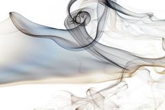 Smoke abstract. Amazing smoke shape on white background Royalty Free Stock Photography