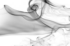 Smoke abstract. Amazing smoke shapes silky look Stock Photography
