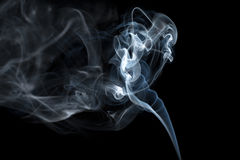 Smoke. Abstract blue background Royalty Free Stock Photo