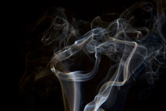 Smoke abstract dark background. Smoke abstract on dark or black background Royalty Free Stock Image