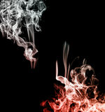 Smoke abstract frame Royalty Free Stock Photos